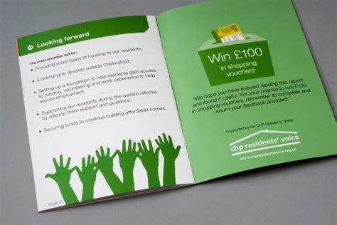 leaflet design chelmsford creative annual report design chelmer housing partnership
