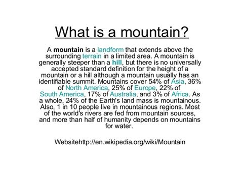 what a what is a mountain