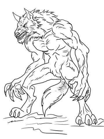 baby werewolf coloring page 301 moved permanently