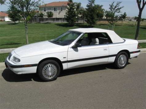 books about how cars work 1993 chrysler lebaron on board diagnostic system purchase used 1993 chrysler lebaron convertible white mint mint in patterson california united