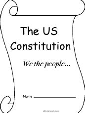 United States Constitution Outline Worksheet by Us Constitution Enchantedlearning