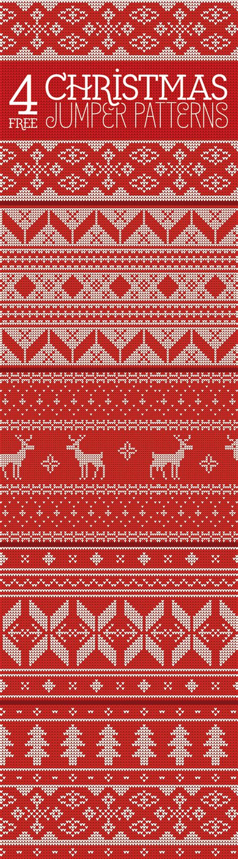 pattern for xmas jumper 4 free seamless knitted christmas jumper patterns idevie