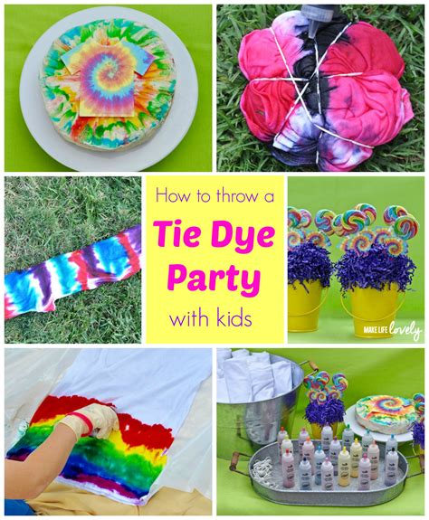 themes for photo projects tie dye party make life lovely