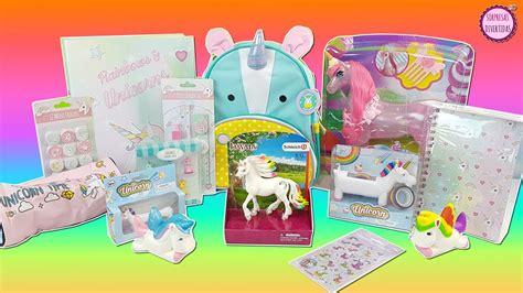 imagenes de unicornios de juguete abriendo juguetes de unicornio y material escolar para el