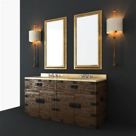 Restoration Hardware Bathroom Furniture Restoration Hardware Bathroom Furniture Set 3d Model Max Obj Fbx Cgtrader