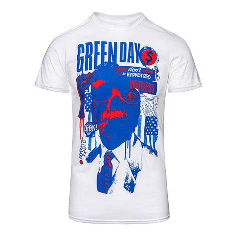 Tshirt Path Login official green day patriot witness white t shirt official band merchandise uk