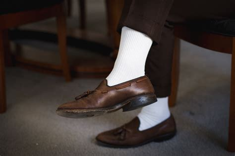 going with white socks x sprezza