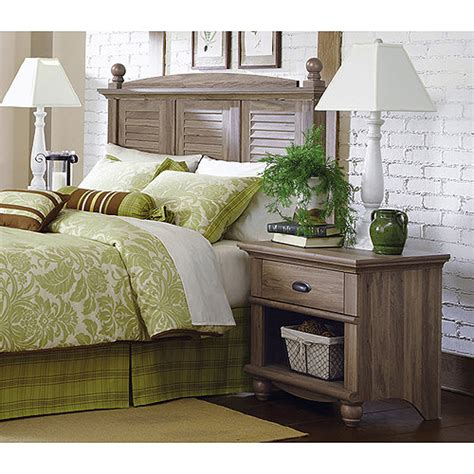 sauder harbor view bedroom set sauder harbor view headboard and nightstand set salt oak