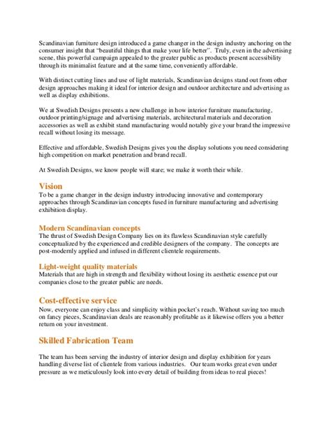 Business Introduction Letter For Interior Design Swedish Designs Introduction Letter