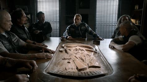 Sons Of Anarchy Meeting Table Find Out What The Sons Of Anarchy Cast Will From Set After The Series Finale