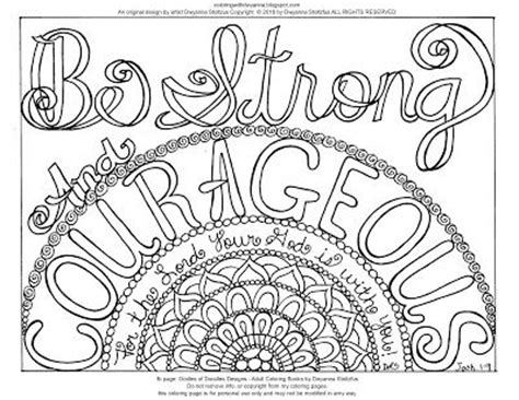 strong sheets joshua 1 9 bible coloring pages coloring pages