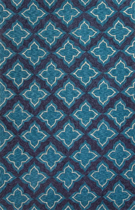 6x9 Outdoor Rug Moroccan Pattern Polyester Blue Indoor Outdoor Area Rug 7 6x9 6 Eclectic Rugs By Aster