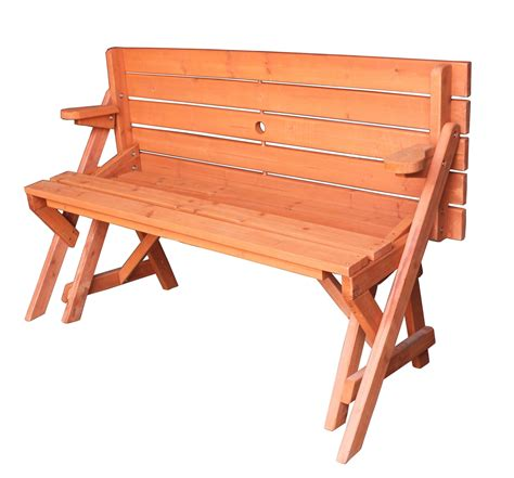 2 in 1 picnic table bench wooden folding bench picnic garden seat table 2 in 1