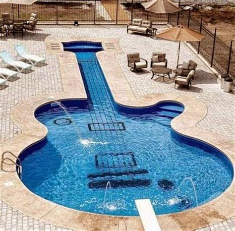 guitar shaped swimming pool 18 astonishing guitar shaped things that make you say