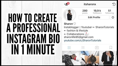 bio for instagram fashion how to create a professional instagram bio in 1 minute