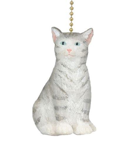 cat ceiling fan pulls purfect feline gray cat ceiling fan light pull