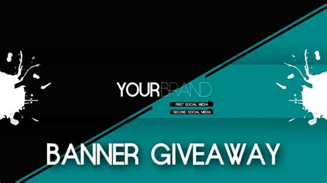 graphic design youtube banner closed minimalistic youtube banner giveaway graphic