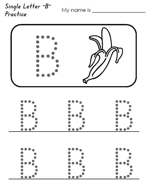 worksheets for preschool letter b b tracing image bananas actividades pinterest