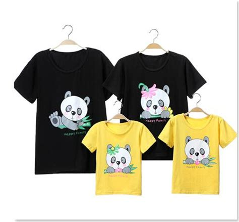 Gw 130 T Shirt By Baby Panda animal panda a family fitted t shirt summer models
