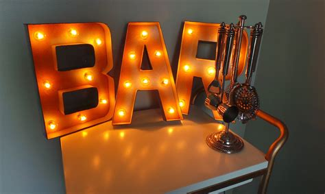 Bar Sign Light by 12 In Bar Light Up Marquee Sign