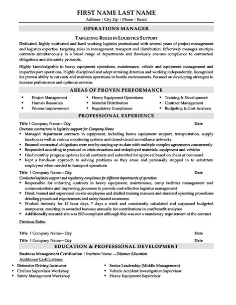 materials manager resume template premium resume sles exle