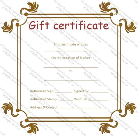 custom certificate templates custom gift certificate template 2 best and various