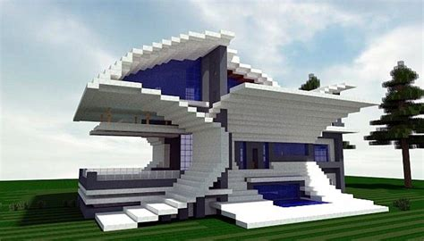 How Do I Get A Blueprint Of My House angry fish a futurist modern house minecraft project
