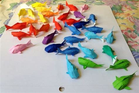 making of origami koi wall of rainbow koi plastic animals koi and origami