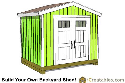 How To Build A 8x10 Shed by 8x10 Shed Plans Diy Storage Shed Plans Building A Shed