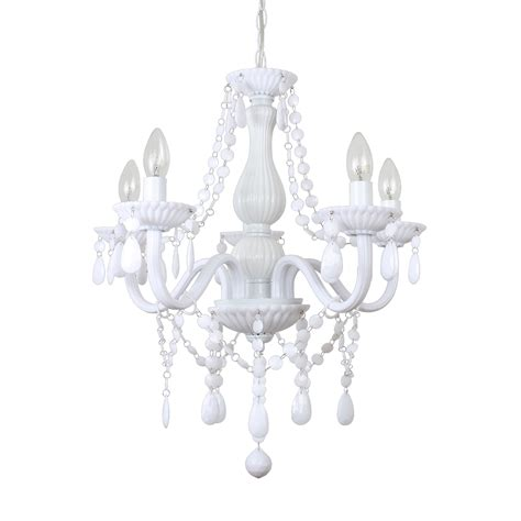 white chandelier large therese white gloss chandelier