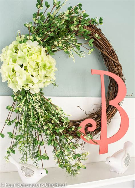 how to make a spring wreath how to make a wreath spring hydrangea four generations