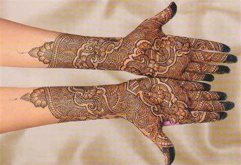 indian henna design new bridal full hand mehndi design