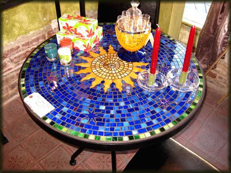 Design For Mosaic Patio Table Ideas Tile And Glass Mosaic Tables