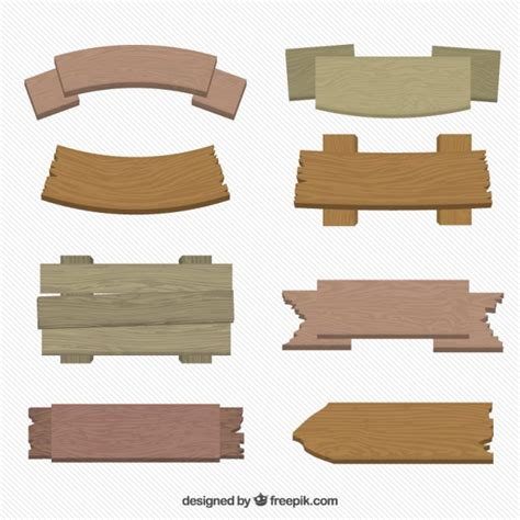 1000 images about flat pack on flats wooden pack of wooden signs in flat design vector free