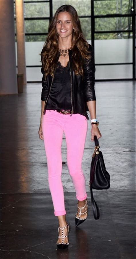 celebrity pink dress pants celebrities wearing valentino rockstud sandals lollipuff