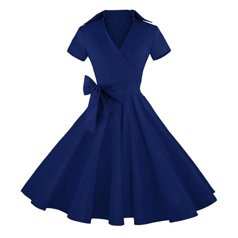 navy blue swing dress vintage navy blue short sleeves swing rockabilly ball