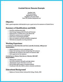 Objective For Bartender Resume Outstanding Details You Must Put In Your Awesome