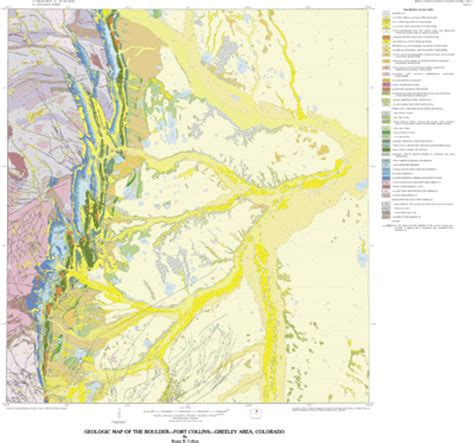 geologic map colorado usgs geologic investigations series i 855 g geologic map
