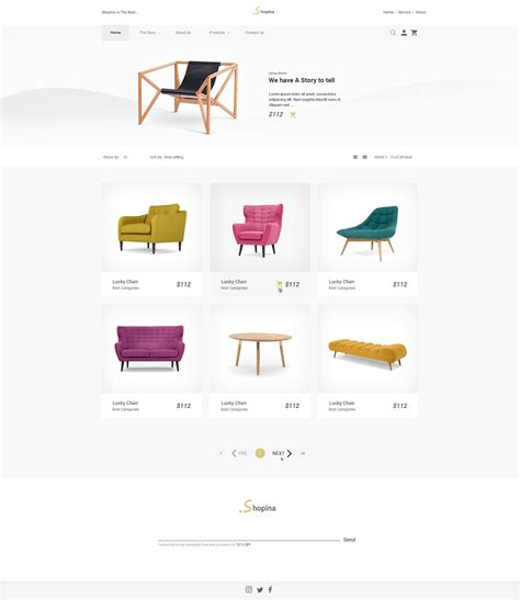 Shopina Single Product Ecommerce Psd Template By Arsesina Themeforest Single Product Ecommerce Website Template
