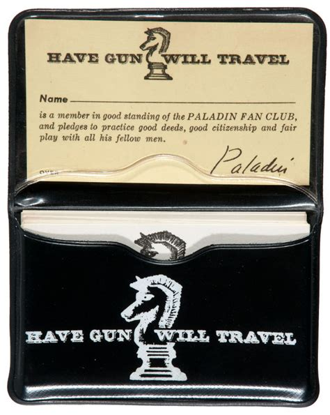 Gun Will Travel Business Card Template by Paladin Business Card Gallery Business Card Template