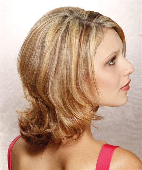 haircut for long hair with flicks medium straight formal hairstyle dark blonde golden