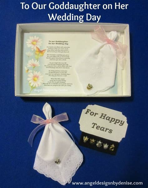 To Our Goddaughter On Her Wedding Day Hanky & Angel Pin