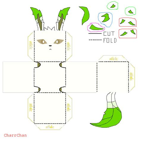 Leafeon Papercraft - leafeon papercraft by charrchan on deviantart