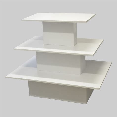 Display Table by 3 Tier Merchandising Display Table
