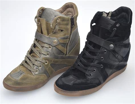 scarpa zeppa interna crime scarpa sneaker con zeppa interna donna bronzo o nero