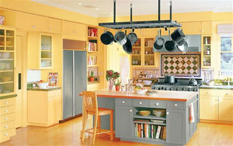 Yellow And Orange Kitchen - red yellow amp orange themes kitchen walls and cabinets