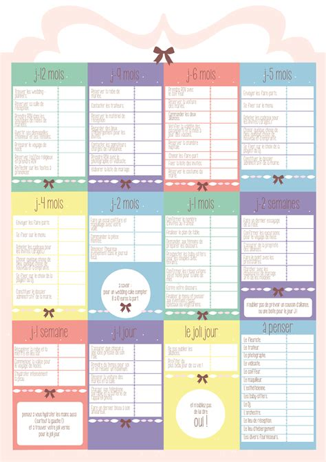 Calendrier Budget Mariage Planning Organisation Mariage Le Mariage