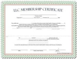 llc membership certificate template word best photos of format certificate of membership sle