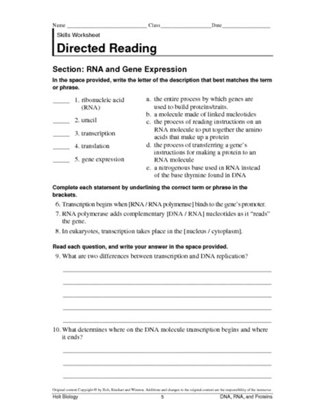 Gene Expression Worksheet gallery protein synthesis worksheet lesson plans inc