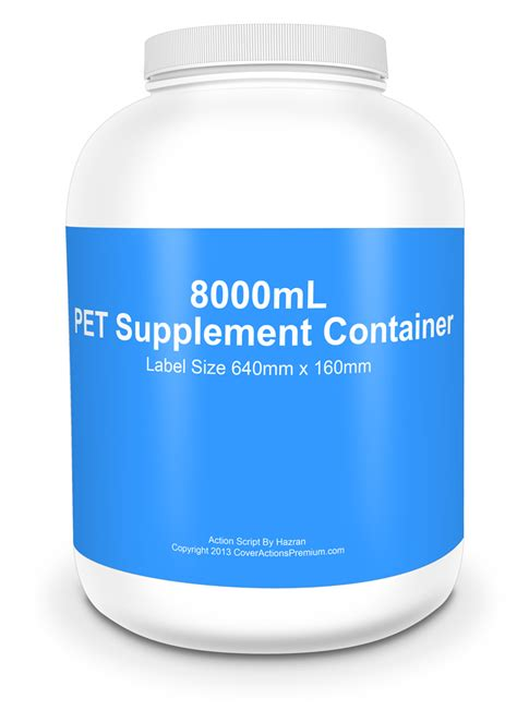 supplement containers 8000ml supplement container mockup cover actions premium